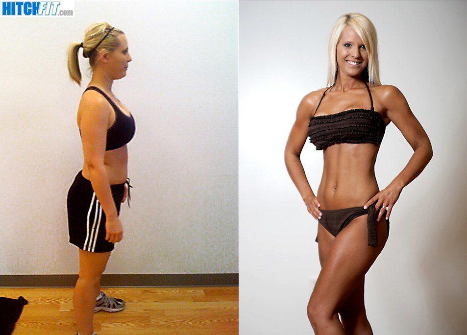 Before and After Weight Loss - Hot Bikini Mom Brandi
