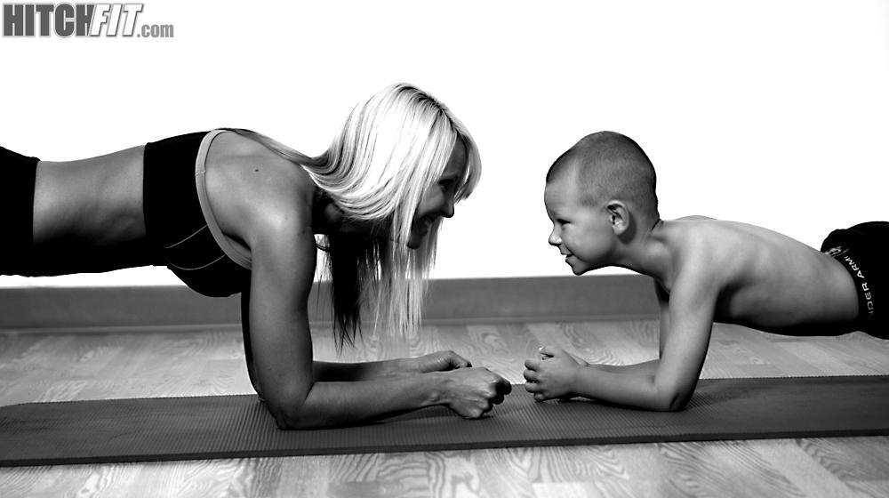Hitch Fit Healthy Mom Brandi and her son!