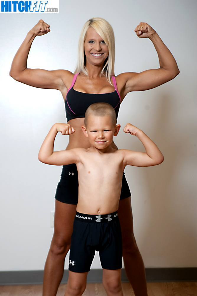 Healthy and Fit Mom - Brandi and her son!