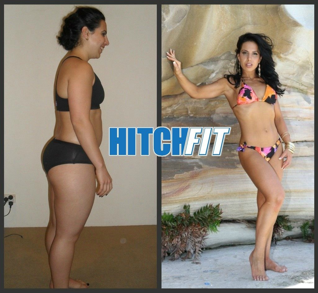 Fitness Model Plan - Before and After Weight Loss - Sharon