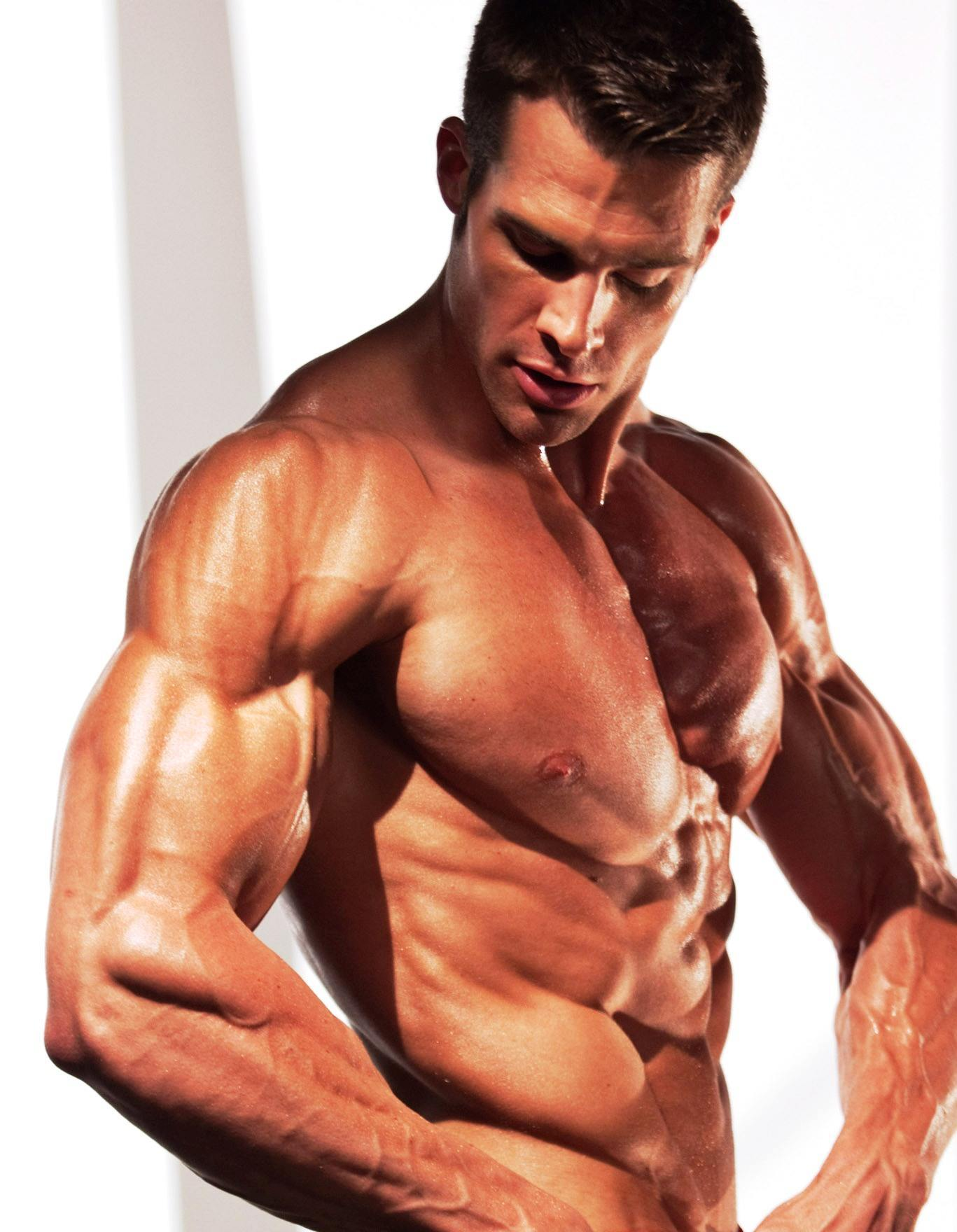 Male Fitness Model Workout