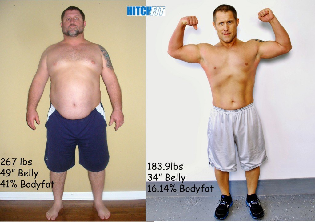 male, Lose Weight Feel Great, over 80 pounds lost, more than 20% body fit lost