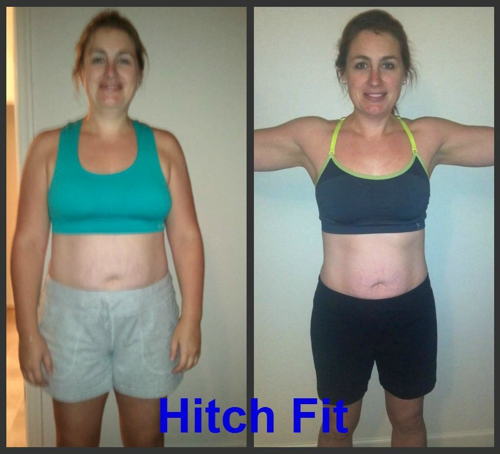 Mom of 3 sheds 28 pounds of fat with Hitch Fit Online Weight Loss Program!