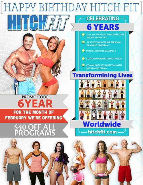 Hitch Fit 6-Year Promotion! $40 Off All Programs!