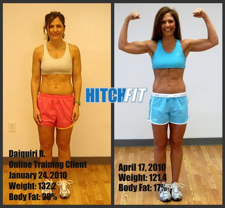 Amazing Abs Transformation from a 12 Week Online Weight Loss Program