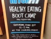 Healthy Eating Bootcamp sign