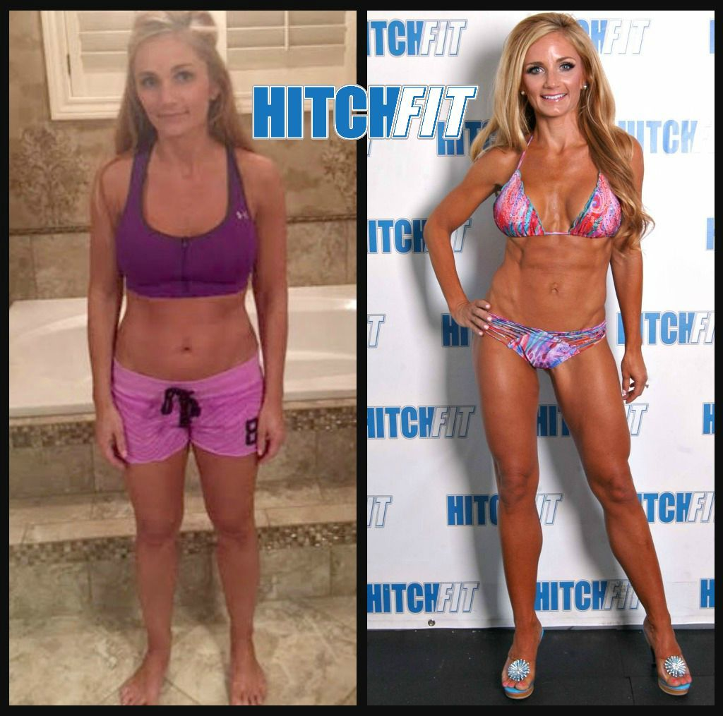 Kristin before and after front