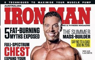 IRONMAN-MAGAZINE-COVER Model Micah Lacerte