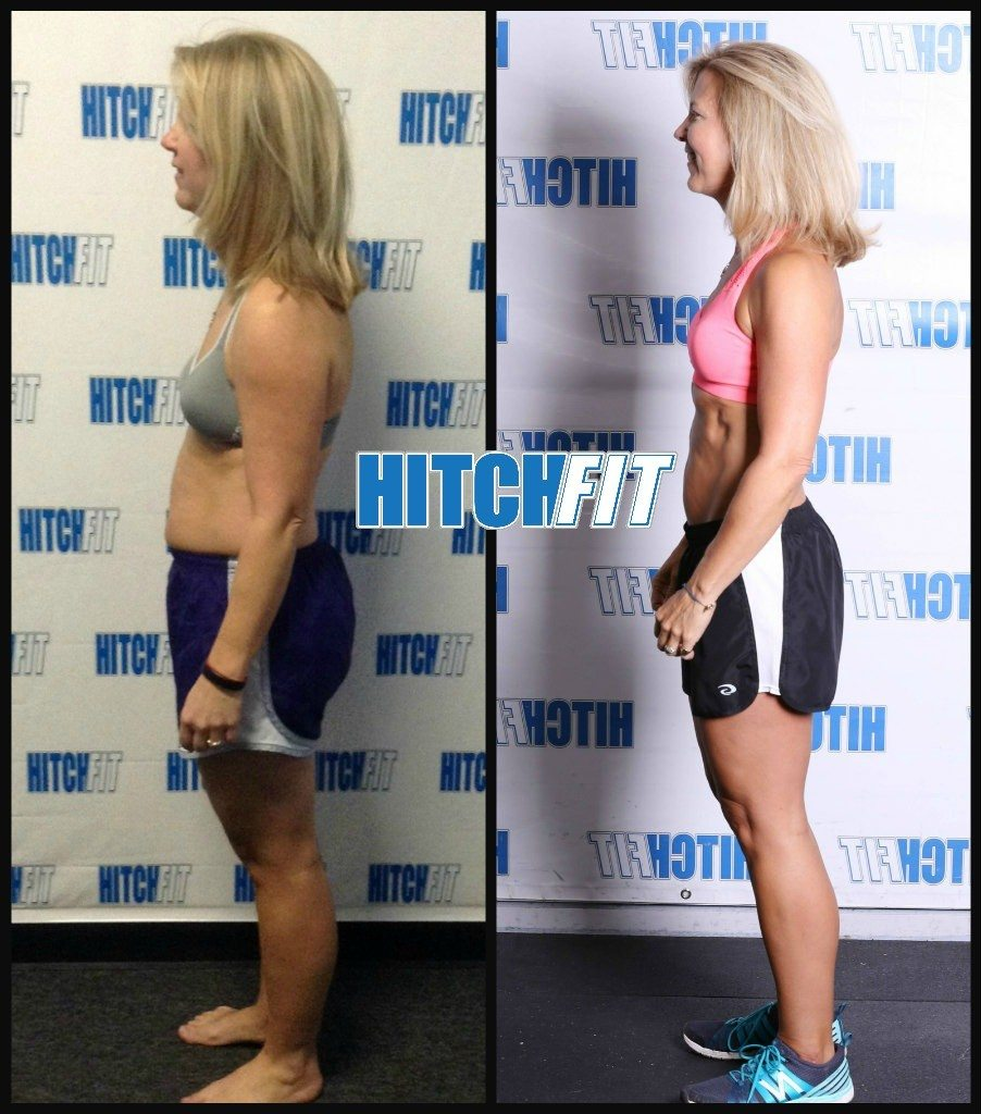 Fit over 40 Weight Loss for Women - Alayne lost the weight at age 48 with Hitch Fit Online Personal Training!