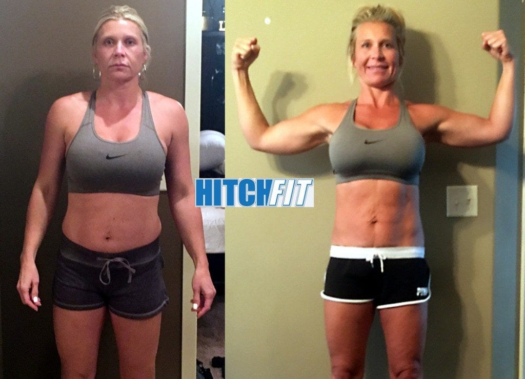 Female Weight Loss - Mom of 5 lost 10% body fat with Online Personal Training
