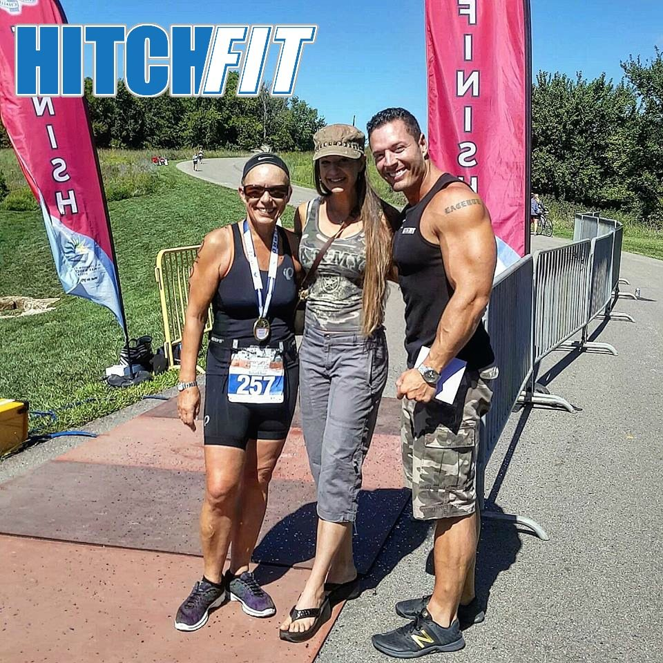 Kansas City Personal Trainers Micah and Diana LaCerte with Fit at 55 client Belinda